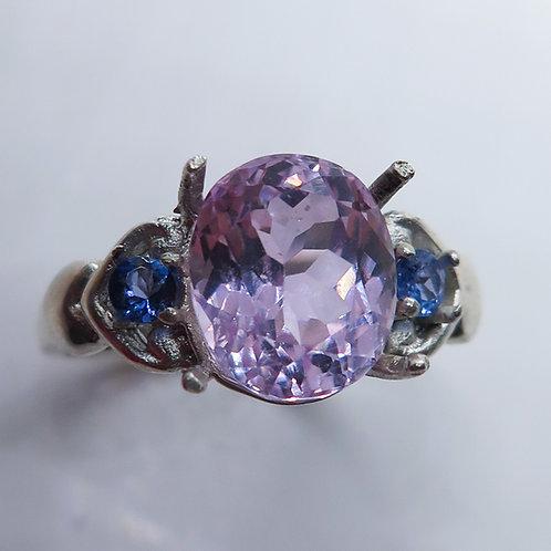 4.5ct Natural Pink Kunzite 925 Silver / Gold/ Platinum ring