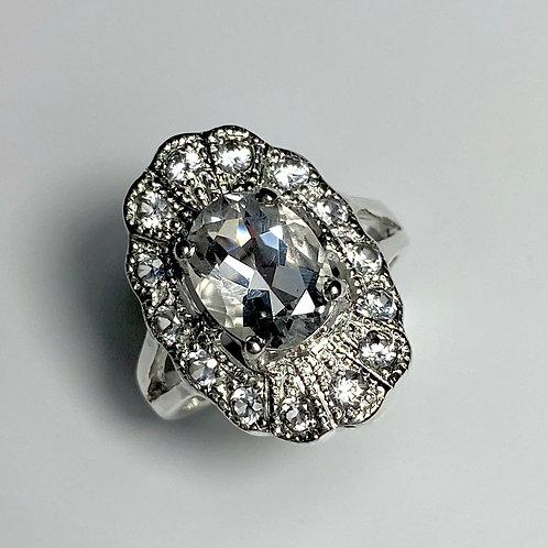 1.8ct RARE Natural Petalite 925 Silver / Gold/ ring