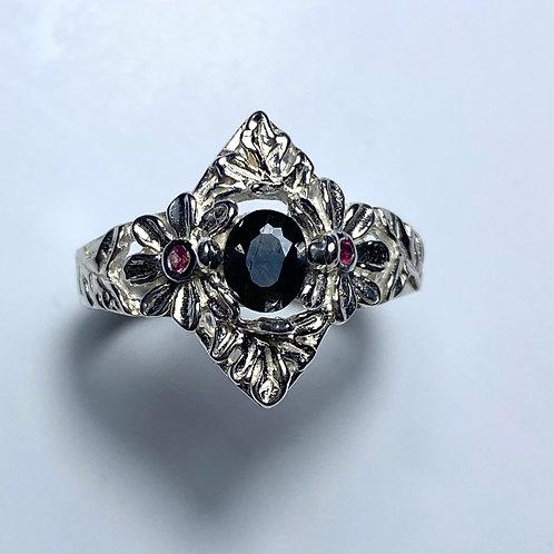 Rare 0.55ct Natural Black Anatase 925 Silver/ Gold/ Platinum ring