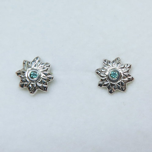 Natural Alexandrite, colour change Silver/ Gold/Platinum star stud earrings