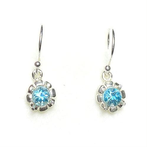 1.4ct Natural Paraiba zircon 925 Sterling silver drop earrings