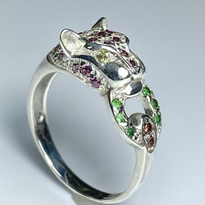 Garnets panther ring