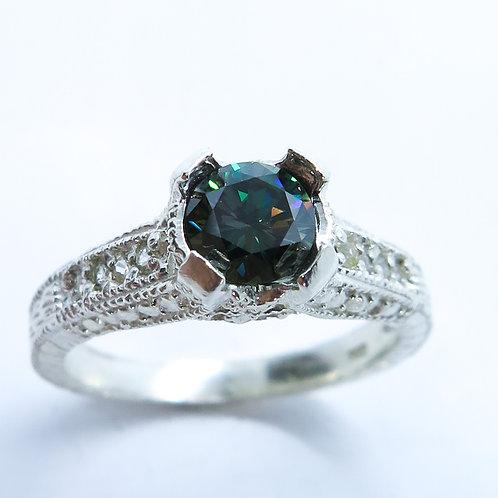 0.65cts Moissanite Lab Diamond 925 Silver / Gold/ Platinum ring