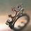 Thumbnail: Natural colour change Alexandrites 925 Silver / Gold/ Platinum crown ring