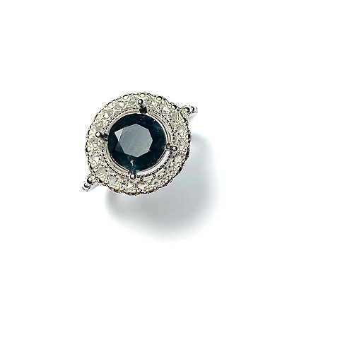 2.75cts Natural dark blue Sapphirine Silver/ Gold /Platinum ring