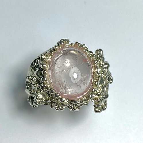 5.5ct Natural Pink Morganite Beryl 925 Silver / Gold/ Platinum ring