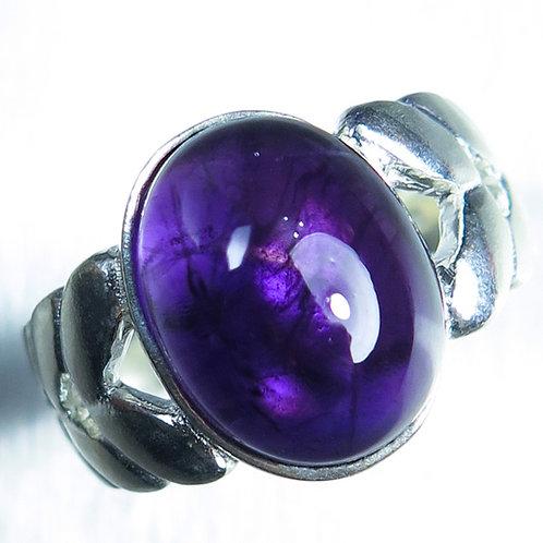 6.55ct Natural very dark purple Amethyst 925 Silver / Gold/ Platinum unis