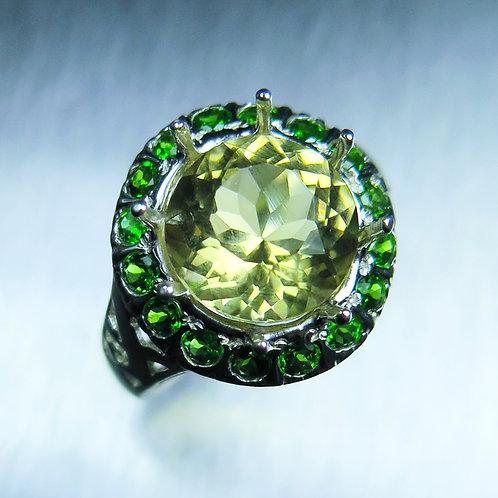 4.15ct Natural Heliodor beryl 925 Silver / Gold/ Platinum ring