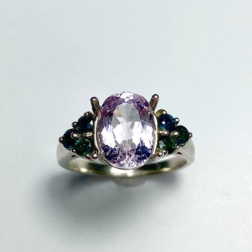 3.25ct Natural light Pink Kunzite 925 Silver / Gold/ Platinum ring