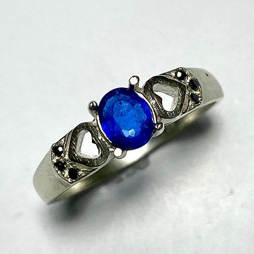 Rare 0.25ct Natural Afghanite 925 Silver/ Gold/ Platinum ring