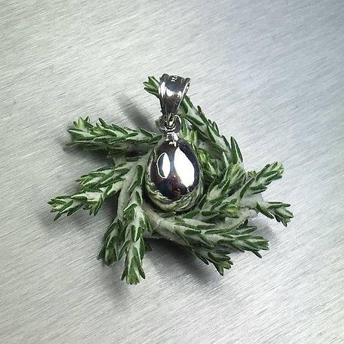 925 Sterling Silver / 9ct 14k 18k Gold / Platinum Easter egg pendant on chain