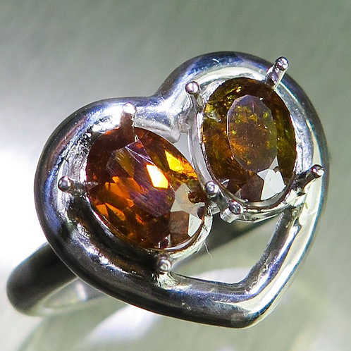 NaturalSphalerite 925 Silver / Gold/ Platinum ring