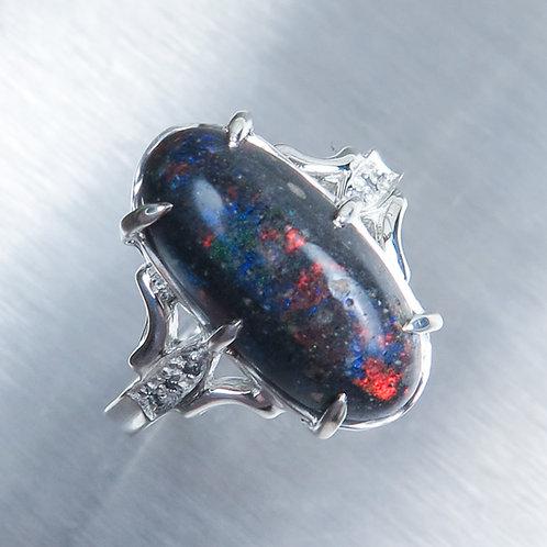 5cts Natural Andamooka Matrix Opal 925 Silver ring