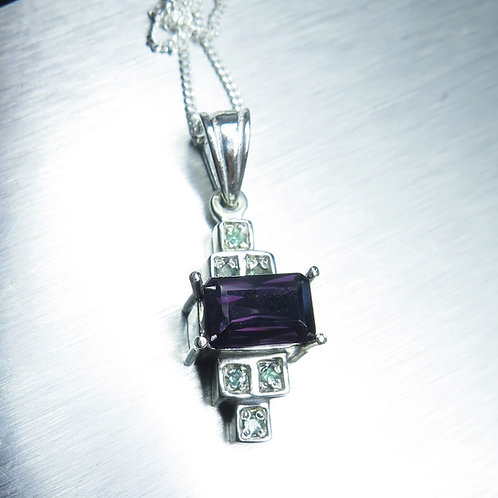 1.45ct Natural purple Spinel Silver / Gold / Platinum art deco p