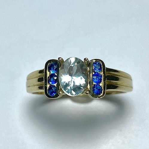 0.77ct Natural Alexandrite Colour Change 9ct .375 yellow Gold ring