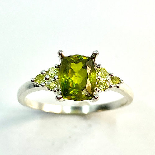1.25ct Natural Titanite Sphene Canary yellow 925 Silver / Gold/ Platinum ring