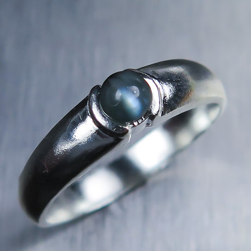0.25cts Natural Alexandrite cat's eye 925 Silver / Gold/ Platinum ring