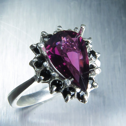 1.7cts Natural Spinel burgundy red 925 Silver / Gold/ Platinum ring