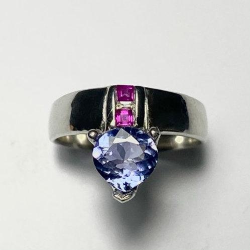 1ct Natural Blue  Tanzanite 925 Silver/ Gold/ Platinum ring