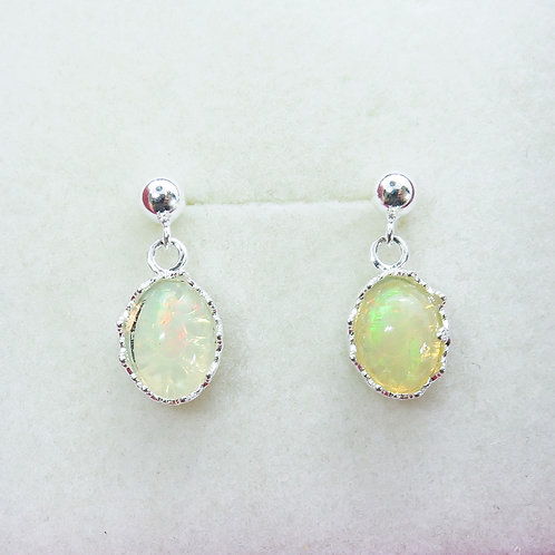 Natural Welo opal Silver/ Gold/Platinum stud drop dangling earrings