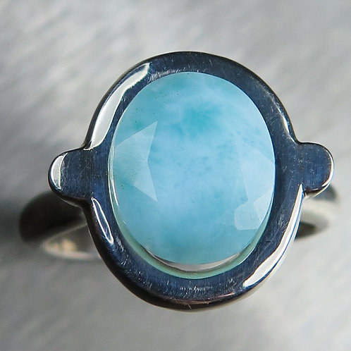 3.5ct Natural Larimar 925 Silver / Gold/ Platinum