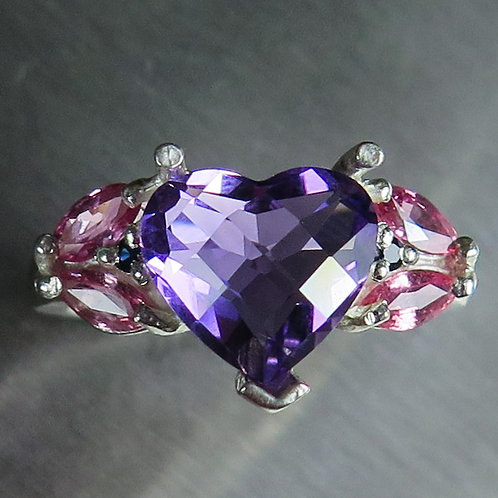 2.35ct Natural Amethyst 925 Silver / Gold/ Platinum ring