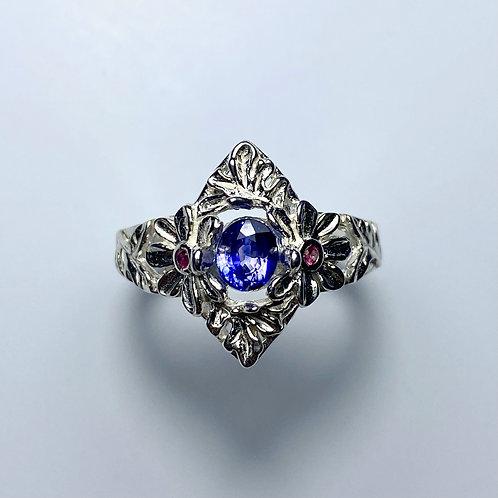 Natural Cornflower blue Sapphire 925 Silver / Gold/ Platinum ring