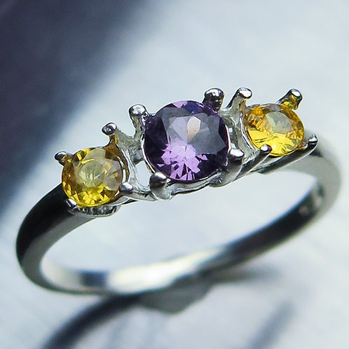 Natural Purple Spinel 925 Silver / Gold/ Platinum ring