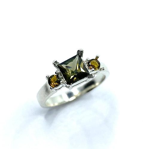 RARE 1.05cts Natural Kornerupine 925 Silver / Gold/ Platinum ring