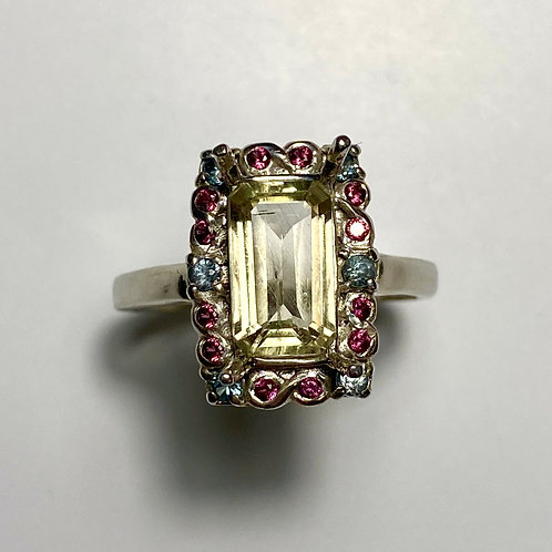 1.8cts Natural Diaspore colour change 925 Silver / Gold/ Platinum ring