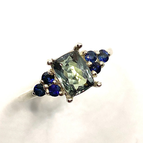Natural Tanzanite925 Silver / Gold/ Platinum engagement ring