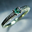 Thumbnail: 0.15ct Natural rare Alexandrite colour change 925 Silver / Gold/ engageme