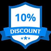 10% Discount Blue