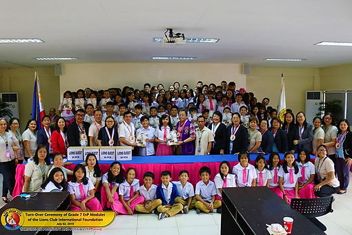TURN-OVER CEREMONY OF GRADE 7 EsP MODULES OF THE LIONS CLUB