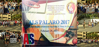 The Alternative Learning System Unit of the Schools Division Office of San  Juan City hosted the very first ALS PALARO for the batch 2016 learners.