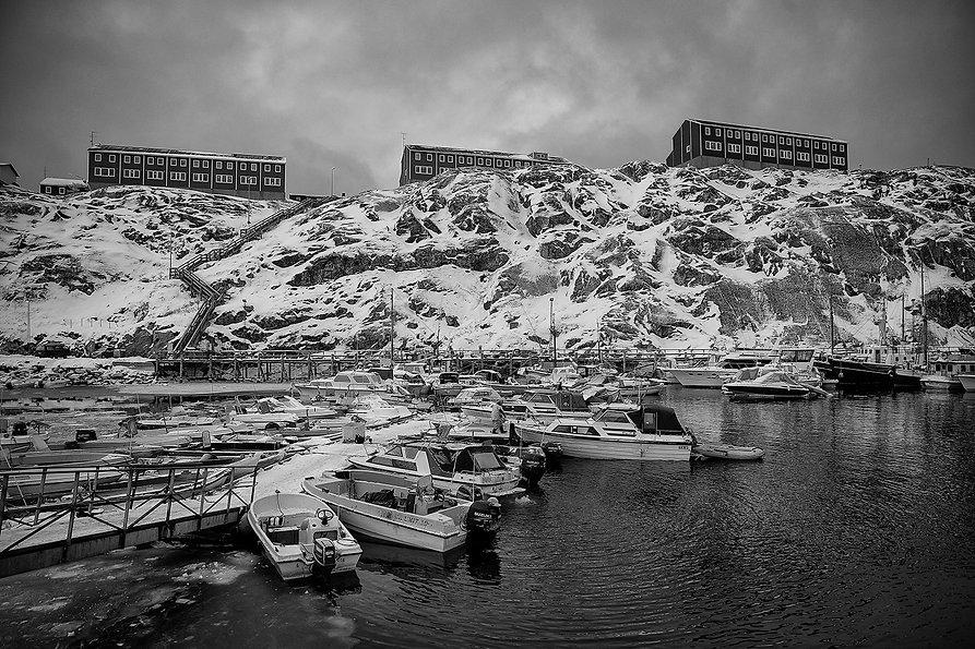 dinghies in Nuuk