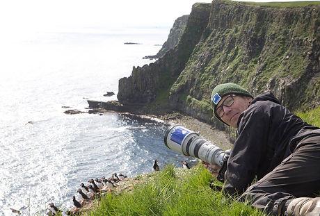 Carsten Egevang on photo mission, Grimsey, Iceland.