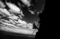 Halfway on the climb
