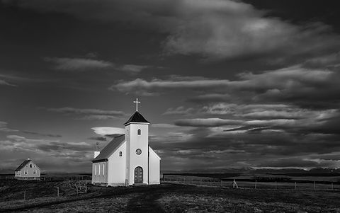 Church at Flatey, Iceland.