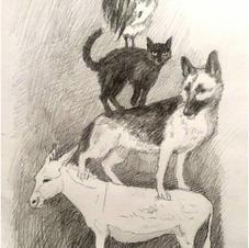 """""""Bremen musicians - illustration"""""""