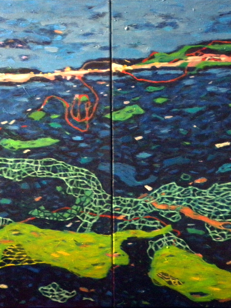 2012., 'While swimming', 100x70cm, acryl