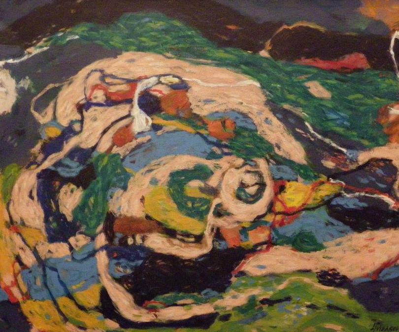 2011., 'Ruins', 60x45, acrylic on canvas