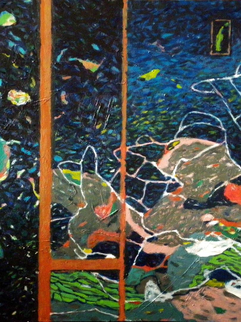 2012., 'Statelite view', 80x60cm, acryli