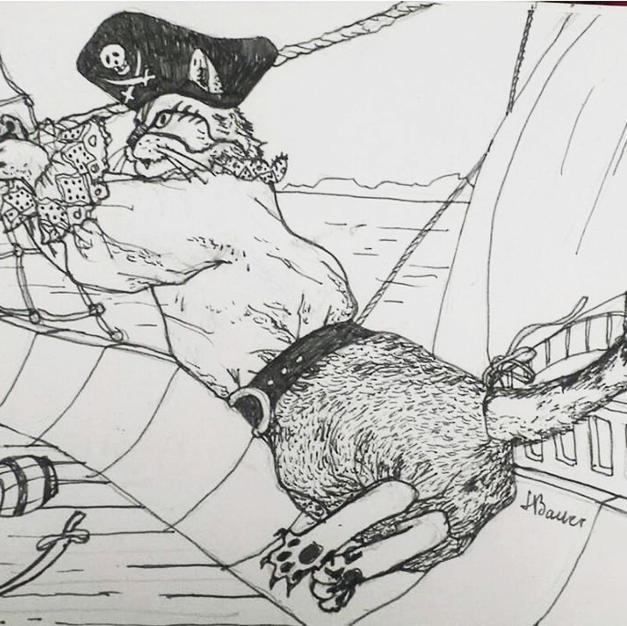 """""""Pirate cat - illustration"""""""