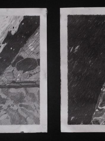 'Gletchers XI', diptich, 50x60cm, 2012.g