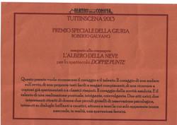 Premio Speciale Giuria Doppie punte La Cometa Tuttinscena