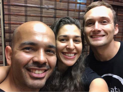 Dance Awakening Instructors Sergio, Sofia, and Mat