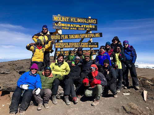 Kilimanjaro trek (Rongai route) - 16th to 25th February 2019 - Booking deposit