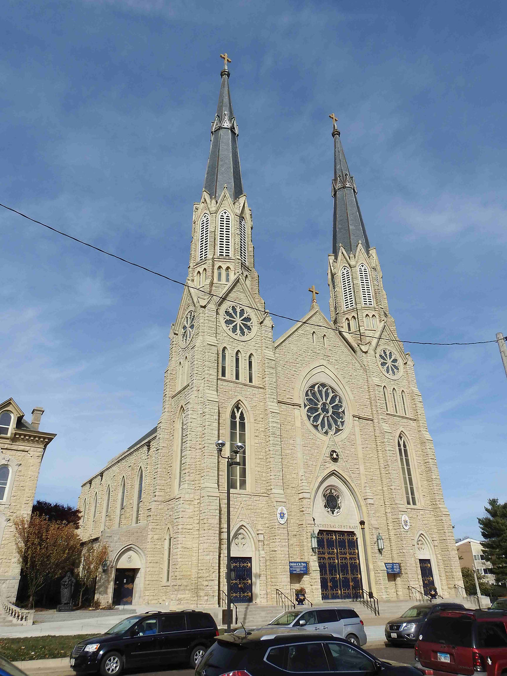 The Cathedral of Saint Mary of the Immaculate Conception in Peoria, Illinois.