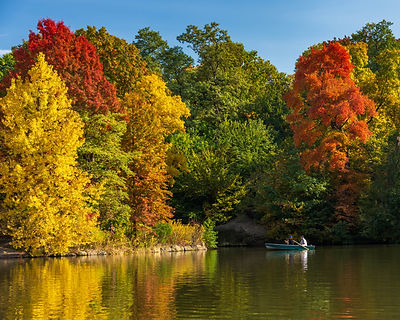 On the lake in fall